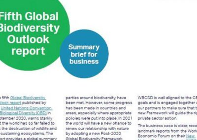 Fifth Global Biodiversity Outlook report by the United Nations Convention on Biological Diversity (CBD)