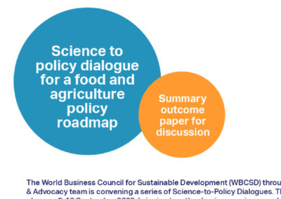 Science to policy dialogue for a food and agriculture policy roadmap – Summary outcome paper for discussion